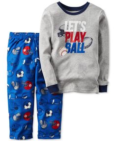 d1a73d1859 Carter s Baby Boys  2-Pc. Long-Sleeve Let s Play Ball Pajama Set