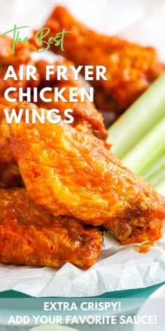 Could You Eat Pizza With Sort Two Diabetic Issues? The Best Air Fryer Chicken Wings Recipe This Simple Recipe Is So Easy And Makes Extra Crispy Wings With Only 2 Ingredients. No Baking Powder Or Special Spices Needed, Just Wings And Your Favorite Sauce Or Air Fryer Recipes Breakfast, Air Fryer Oven Recipes, Air Fryer Dinner Recipes, Cooking Chicken Wings, Crispy Chicken Wings, Chicken Wing Recipes, Air Fryer Recipes Chicken Wings, Baking Powder Chicken Wings, Hot Wings Recipe Fried