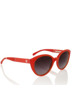 da99deabe7f Chanel Eyewear Orange Acetate Round Frame Sunglasses Round Frame Sunglasses