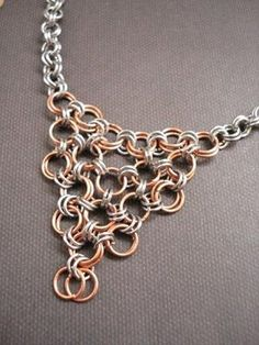 Chain Maille Focal Necklace... So simple but could be pretty!