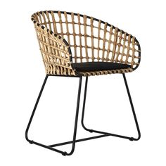 Relax in style and comfort with this Tokyo chair from Pols Potten. Suitable for indoor use only, the chair boasts a rattan seat with a powder coated frame. Perfect for placing in a living room, bedroo
