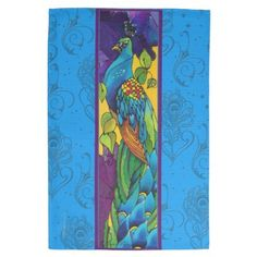 Peacock Silk Painting Hand Towel by purplepeacock