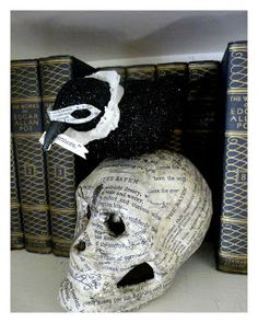 """QUOTH THE RAVEN, """"MAKE SOME MORE"""" ~ POE INSPIRED HALLOWEEN CRAFT"""