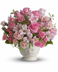 Pink Potpourri Bouquet - Send Flowers to Calgary