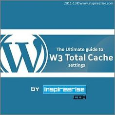 There are many performance optimization plugins for WordPress like : WP-Super cache, Hyper Cache, DB-Cache Reloaded Fix etc. But we will discuss only W3 Total cache in detail as it has the deepest possibility of customization. So we will give you W3 Total Cache settings which are the best. Because of the recent updates like Penguin and Panda , the loading time of websites plays a critical role in a website's search engine rankings. There are several ways to speed up a website. Caching…