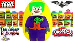 Huevo Sorpresa Gigante de Lego Guason o Joker de Lego Batman de Plastili...