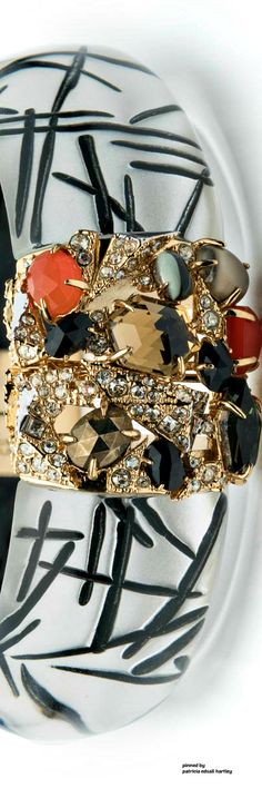 Alexis Bittar Mosaic Futurist Hinge Bracelet