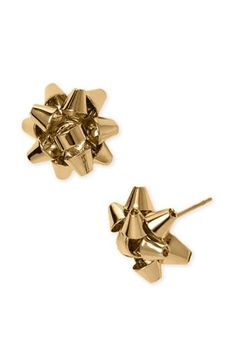 Kate Spade Christmas bow earrings. I want these for the holiday .... Too cute!!