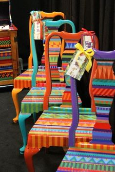 Hand painted chairs from Lindsey Erin by Nina Maltese