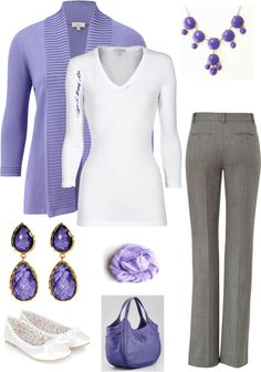 periwinkle and grey. I love these colors for work!