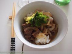 Gyudon - Japanisches Rindfleisch auf Reis