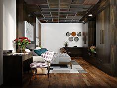 Classic Wood Paneling Ceiling #basementceilingcoveringideas