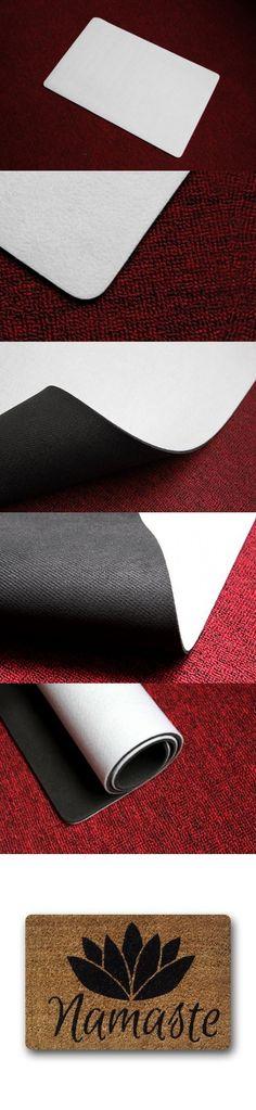 Charming Custom Namaste Coir Machine-Wahable Rush Home Doormats Rubber Bathroom Welcome Mats Floor Mat Rug Carpets Indoor/Outdoor 23.6X15.7 Inch