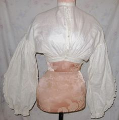 All The Pretty Dresses: 1860's White Cotton Blouse  And why not now????
