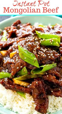 instant pot chicken recipes Instant Pot Mongolian Beef cooks up in under 30 minutes. This sweet, flavorful Asian-style beef is so much better than takeout and so easy to make Best Instant Pot Recipe, Instant Pot Dinner Recipes, Instant Pot Chinese Recipes, Instant Pot Pressure Cooker, Pressure Cooker Recipes, Slow Cooker, Pressure Cooking, Crockpot Recipes, Cooking Recipes