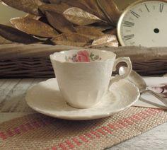 Vintage Demitasse Tea Cup and Saucer / Copeland by vintageaddie