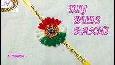 independence day rakhi making/DIY BUDS Rakhi Crafts For Kids, Arts And Crafts, Diy Crafts, Rakhi Making, Handmade Rakhi, Republic Day, Craft Tutorials, Independence Day, Bud
