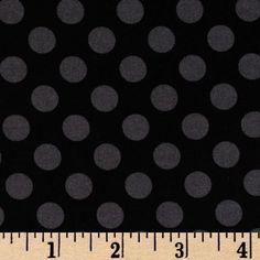 Michael Miller Ta Dot Black - Discount Designer Fabric - Fabric.com
