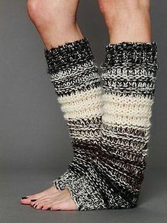 cozy knit legwarmers