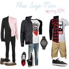 """""""Plus Size Men Spring 2014"""" by lorraine-andrade-marques on Polyvore"""