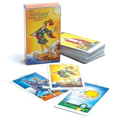 RADIANT RIDER WAITE TAROT 78 CARD DECK + BOOKLET Wicca Pagan Witch Goth  #Cards