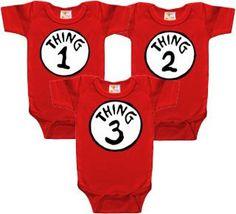 Triplet Onesies  3 PACK by JustMultiplescom on Etsy, $44.95