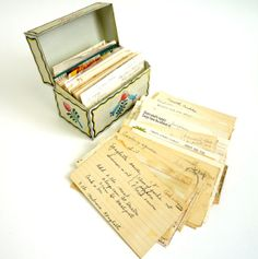 Ohio Art Tin Recipe Box with Collected Handwritten by AttysVintage, $28.00
