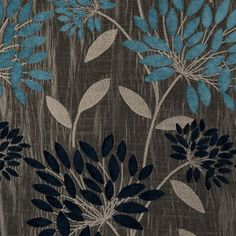 Aqua Floral Pattern