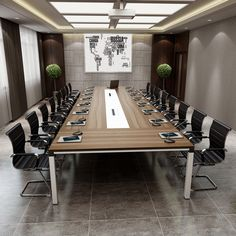 2016 Top design boardroom office furniture wooden rectangular conference table modern meeting table