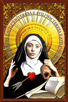 św. Teresa z Ávili, św. Teresa od Jezusa. Doktor Kościoła Jesus Christ Images, Santa Maria, Grenada, Salvador, Madonna, Christianity, Mona Lisa, Dog Cat, God