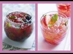 HEALTHY COCKTAILS   AD 4 EASY RECIPES! HD
