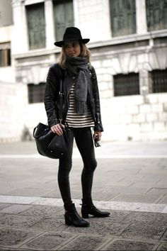 Black with stripes
