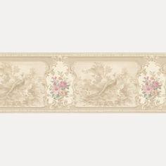 Vintage Rose englische Landhaus Satin Bordüren Blumen Fasan Art.-Nr.: B07579