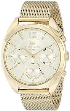 f76abf1b864 Tommy Hilfiger Women s Analog Gold-Tone Watch Search