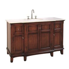 """You'll love the Hatherleigh 53"""" Single Chest Bathroom Vanity Set at Wayfair - Great Deals on all Home Improvement  products with Free Shipping on most stuff, even the big stuff."""