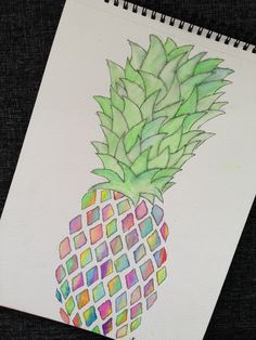 Pineapple!   #drawing #watercolor