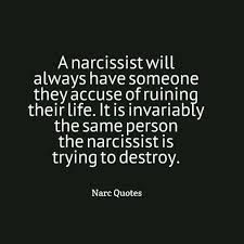"A narcissist will always have someone they accuse of ""ruining their life."" It is invariably the same person the narcissist is trying to destroy. Narcissistic People, Narcissistic Mother, Narcissistic Behavior, Narcissistic Sociopath, Narcissistic Personality Disorder, Sociopath Traits, Abusive Relationship, Toxic Relationships, Just In Case"