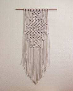Macrame Wall Hanging / The Dunes by MinnieJoStudio on Etsy