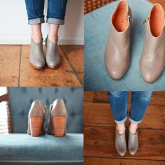 these boots... - Bliss  #mavenhauscollective http://www.mavenhauscollective.com/the-collections/stella-leather-booties-in-grey