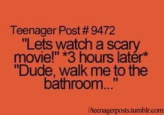 That's why I hate horror movies