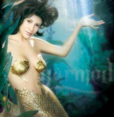 golden mermaid.