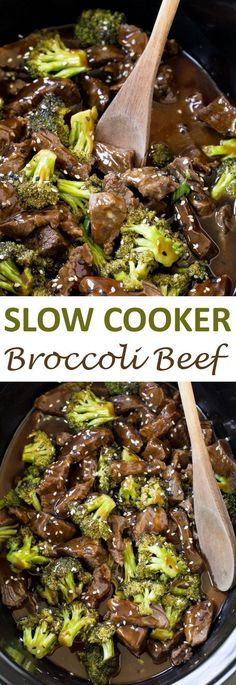 Slow Cooker Broccoli Beef. Super tender steak cooked low and slow for 5 hours! Serve over a bowl of rice or noodles! | chefsavvy.com #recipe #beef #broccoli #dinner #slow #cooker #crockpot