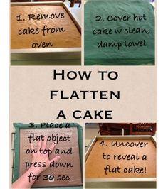 How to level a cake without slicing off any cake! by ninakristine kuchen ostern rezepte torten cakes desserts recipes baking baking baking Cake Decorating Techniques, Cake Decorating Tips, Cookie Decorating, Cake Icing, Cupcake Cakes, Buttercream Cake, Cake Business, Baking Tips, Baking Hacks