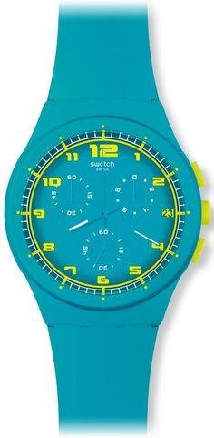 Swatch Women's Originals SUSL400 Blue Rubber Quartz Watch #tarazz #swatch #watch