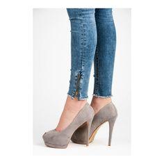 Semišové lodičky s otvorenou špičkou 8264-5G Stiletto Heels, High Heels, Ariana Grande, Heeled Mules, Pumps, Shoes, Fashion, Moda, Zapatos