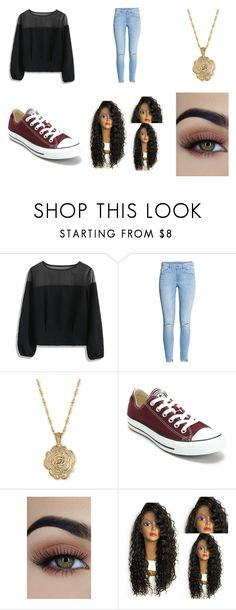 """Untitled #43"" by littlenerdrosey17 ❤ liked on Polyvore featuring Chicwish, H&M, 2028 and Converse"