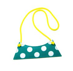 POLKA DOT turquoise faux leather necklace by pleasureispretty, $17.00