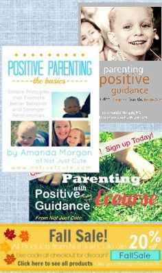 And I thought these were already a bargain!  All Positive Guidance Products on sale at Not Just Cute!  20% off Through October.