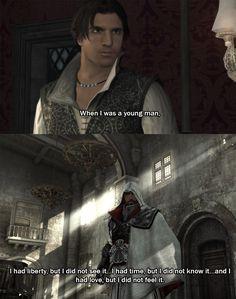 Ezio Quote via #AssassinsCreed via Reddit user kencrema