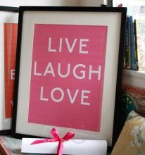 """""""Live, laugh, love"""" by Pearl & Earl."""